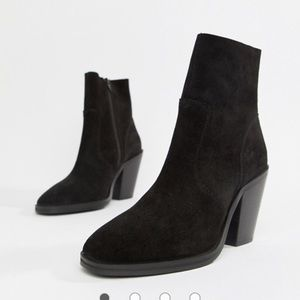 ASOS Design suede ankle boots Espresso Size 9.5